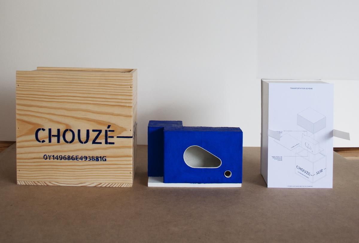 Boîte et maquette pour l'exposition.