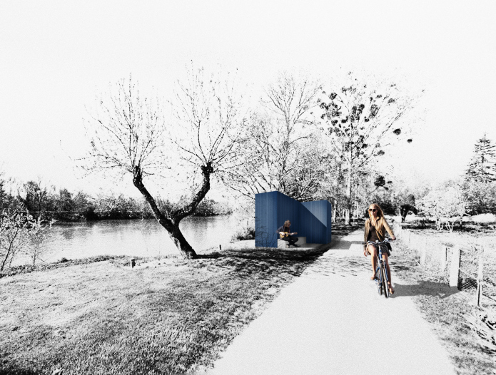 Chouze sur Loire photomontage bicycle path