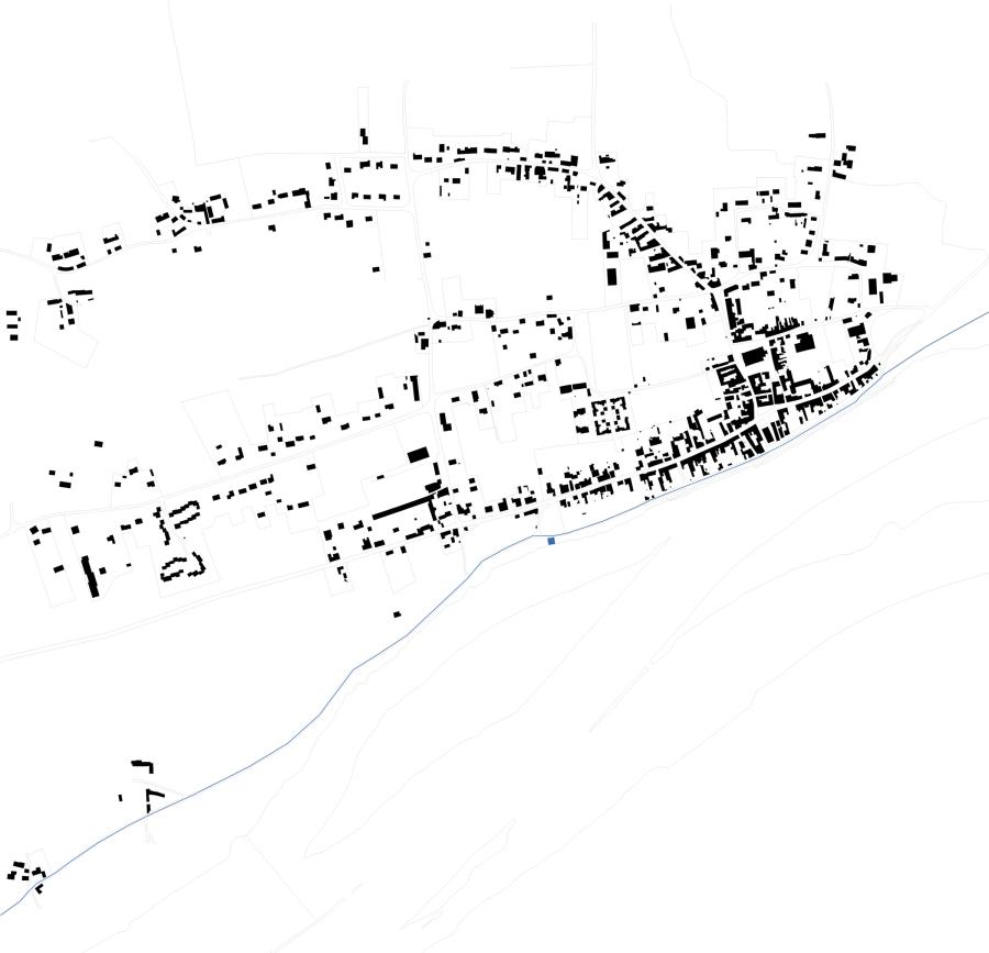 Plan de Chouzé-Sur-Loire et emplacement de l'abris.